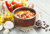 Soup with beans — Stock Photo
