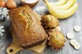 Homemade banana cake  — Stock Photo