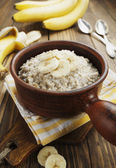 Oatmeal with bananas — Foto de Stock