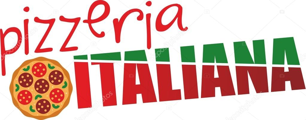 logotipo Pizzeria italiana - Ilustración de stock