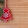 Christmas decoration on wooden background — 图库照片