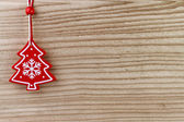 Christmas decoration on wooden background — Stock Photo