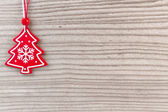 Christmas decoration on wood background — Stock Photo
