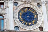 Orologio astronomico a venezia, italia, san piazza marco — Foto Stock