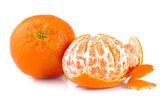 Verse tangerine of mandarijn, geïsoleerde op witte achtergrond — Stockfoto