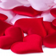 Valentines Day background with red and pink hearts — Stock Photo #19555705