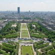 Stock Photo: View of Park du Champ de Mars from Eiffel tower. Paris, France, Europe.