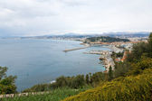 View of the french riviera coastline in Nice — Stock Photo