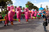 Colourful carnival in Nice, France — Stock Photo