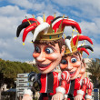 Stock Photo: Allegorical floats at Nice carnival on February 26, 2013.