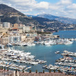 View of Monte Carlo and harbor in Monaco — Stock Photo