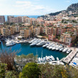 View of Fontvieille and harbour in Monaco — Stock Photo