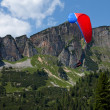 Paragliding over Alps, Austria — Stock Photo