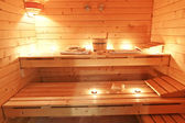 Interior sauna — Stock Photo