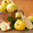 Stock Photo: Pear in Copper Jug
