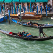 Gondolas on the Grand Canal, Venice — Stock Photo