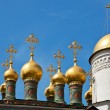 Stock Photo: Cupolas of Terem Palace Church, Moscow Kremlin, Russia