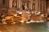 Trevi Fountain (Fontana di Trevi) by night, Rome — Stock Photo