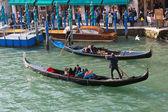 Gondolas on the Grand Canal, Venice — Stock Photo