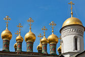 Cupolas of the Terem Palace Church, Moscow Kremlin, Russia — Stock Photo