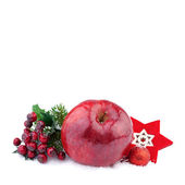 Christmas Red Apple — Stock Photo