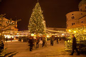 Christmas Market in Old Salzburg, Austria — Stock Photo
