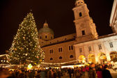 Christmas Market in Salzburg, Austria — Stock Photo