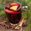 Christmas mulled wine — Stockfoto