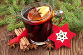Christmas hot wine — Stock fotografie