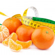 Dieting Concept, Tangerines with Measuring Tape — Stock Photo #38991291