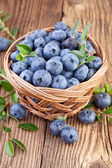 Basket of Blueberries — Stock Photo