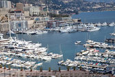 Aerial View of Monaco Harbor with Luxury Yachts, French Riviera — Stock fotografie