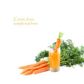 Glass of Carrot Juice with fresh Ingredients — Stock Photo