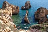 Ponta de piedade, em lagos, a costa do algarve em portugal — Foto Stock