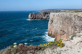 Rocky Coast of Portugal near Sagres — Stock Photo