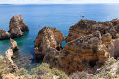 Algarve coast near Lagos, Portugal — Stock Photo