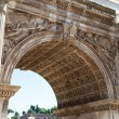 Fragment of the Arch of Septimius Severus on the Roman Forum, Rome, Italy — Stock Photo #43637487