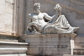 Statue of river god of the Tiber, piazza del Campidoglio, Rome, Italy — Stock Photo