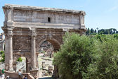The Arch of Septimius Severus on the Roman Forum, Rome, Italy — Stock Photo