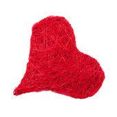 Czerwone serce na białym tle — Zdjęcie stockowe
