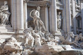 ROME - MAY 2009: Facade of Trevi Fountain largest Baroque fountain in the city and one of the most famous in the world. May 23, 2009. — Stock Photo
