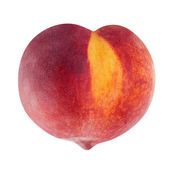 Peach fruit in heart shape — Stock Photo