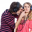 Royalty-Free Stock Photo: Couple with headphones