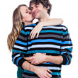 Happy couple hugging — Stockfoto