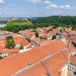 Panoramic view of Vilnius old town and castle — Stock Photo