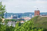 Vista panorámica del castillo de gediminas vilnius — Foto de Stock