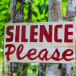 Stock Photo: Silence please sign