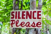 Ticho prosím podepsat — Stock fotografie