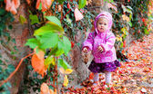 Baby in autumn park — Foto de Stock