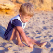 Stock fotografie: Cute little girl at sand
